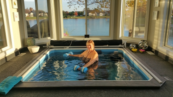 Aquatic exercise in the comfort of your home.