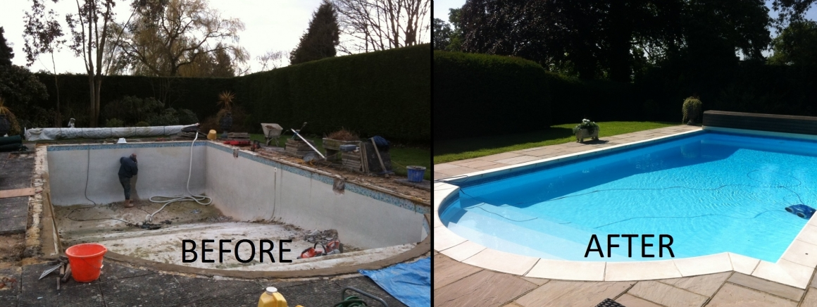 Swimming Pool liners, swimming pool refurbishment